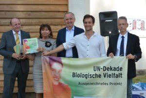 Stelen der Biodiversität Feierliche-Eröffnung